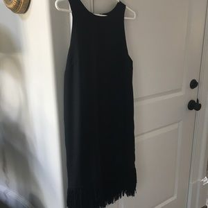 Dresses & Skirts - Banana Republic fringe hem cocktail dress